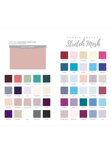 front_Stretch Mesh Swatch Booklet