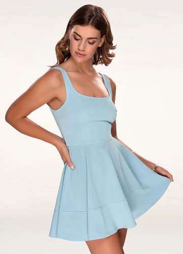 Olivia Periwinkle Skater Dress
