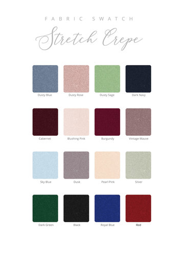 Stretch Crepe Swatch Booklet