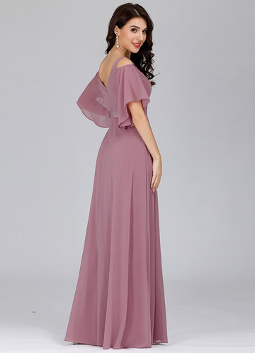 back_EVER-PRETTY Cold Shoulder Flutter Sleeve Maxi Formal Dress