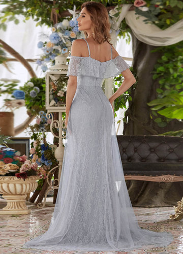 back_AZ Off Shoulder Mesh Prom Dress