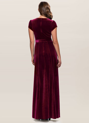 back_Blush Mark Dreaming Of You {Color} Velvet Maxi Dress