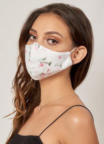 back_Non-medical Cute Pattern Cotton Reusable Face Mask Blushing Pink