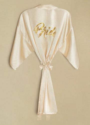 back_Bride Glitter Print Robe