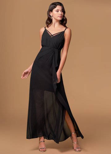 Endless Possibility Black Maxi Dress