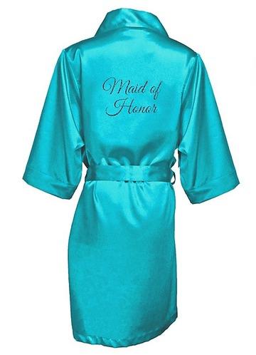 Azazie Glitter Print Maid of Honor Satin Robe
