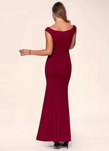 back_Blush Mark Cherish {Color} Stretch Crepe Maxi Dress