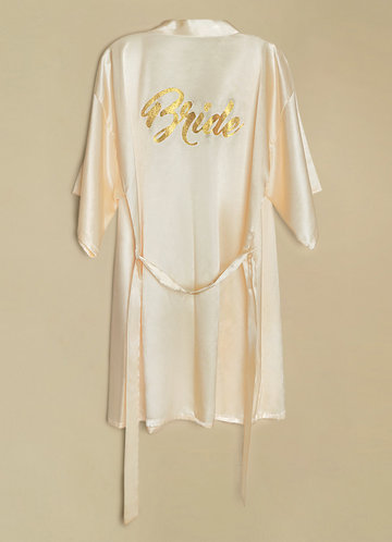front_Bride Glitter Print Robe