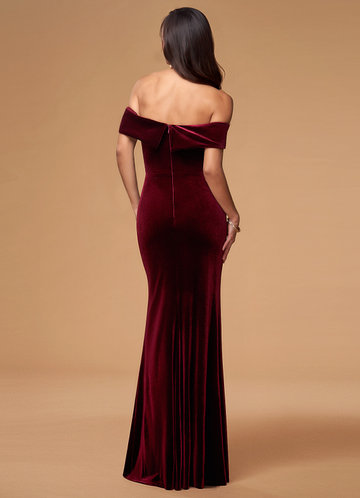 back_Sweet Thing {Color} Velvet Maxi Dress