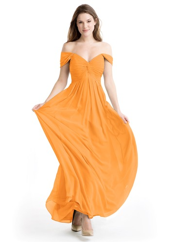 Creamsicle Orange Evening Dress