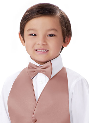 front_Gentlemen's Collection Boy's Matte Satin pre-tied bow tie
