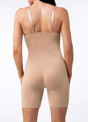 back_Knee Length Tummy Control Bodysuit Shaper