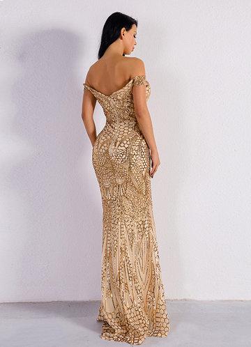 back_Missord Off Shoulder Sequin Mermaid Bodycon Dress