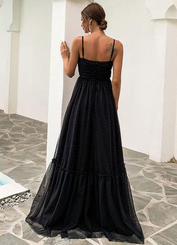 back_Missord Frill Ruffle Hem Mesh Prom Dress