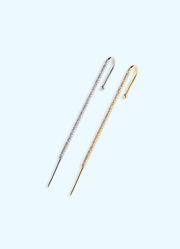 front_Unilateral Elegant Rod Earrings