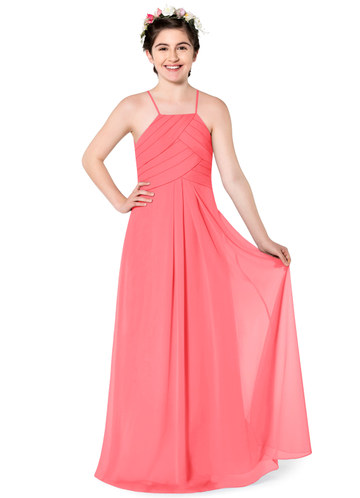 9ddf90c885f Azazie Ginger Junior Bridesmaid Dress ...