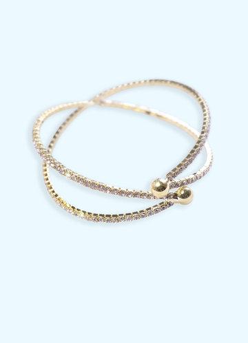back_Crossing Crystal Cuff Bracelet