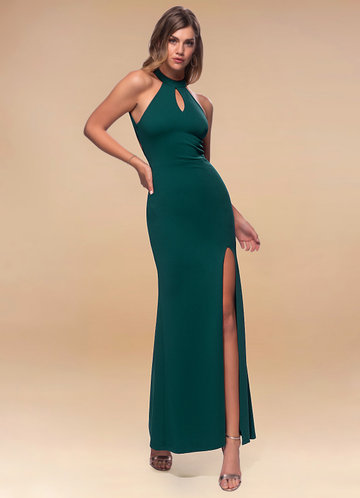 front_Blush Mark Enchanted {Color} Stretch Crepe Maxi Dress
