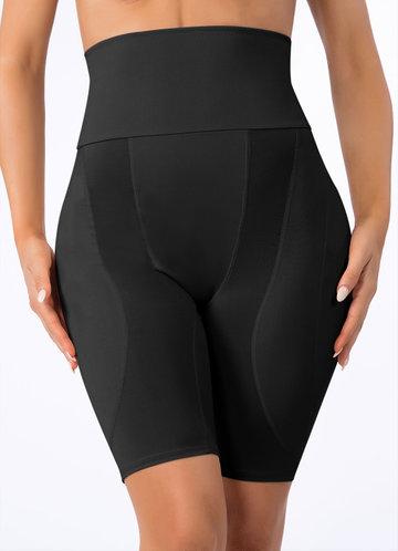 front_High Waisted Hip Enhancer Padded Shapewear Shorts