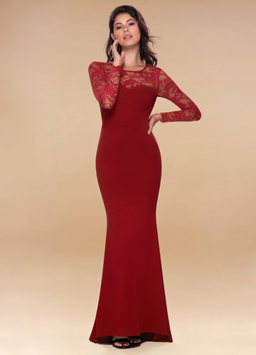 Americano Wine Red Maxi Dress