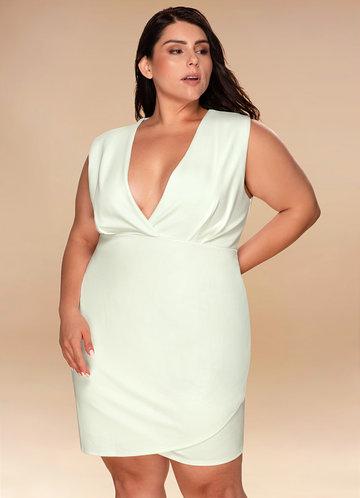 Eternal Love Ivory Wrap Dress