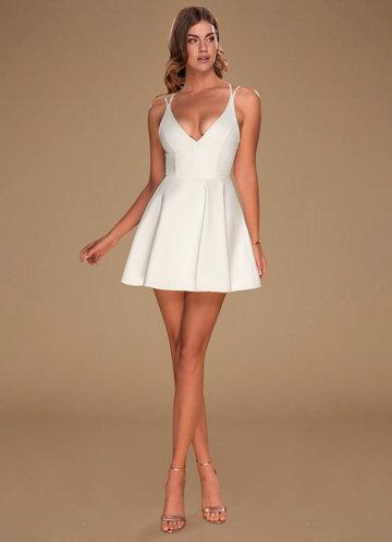 Lost In Atlantis White Backless Skater Dress
