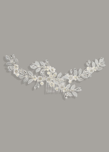 front_Twilight Gilded Floral Leaf Combs