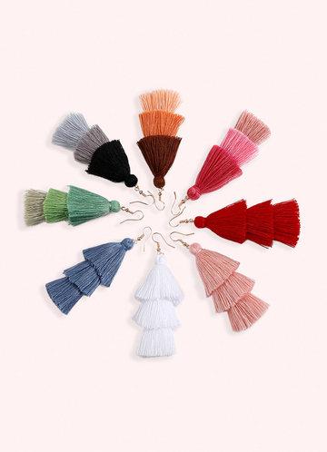 back_Splash of Color Tassel Earrings