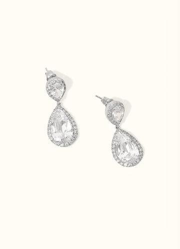 front_Stunning Silver Teardrop Earrings