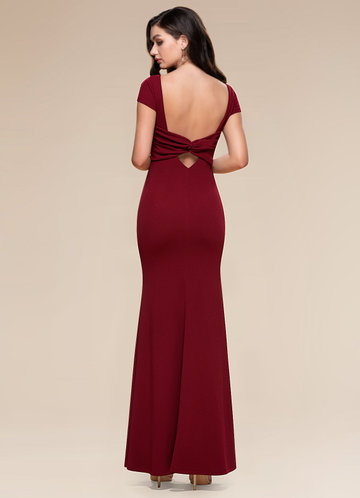 back_Blush Mark Pure Beauty {Color} Stretch Crepe Maxi Dress