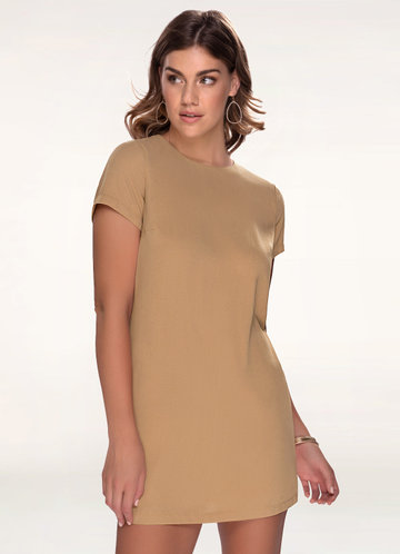 Yours Truly Beige Shift Dress