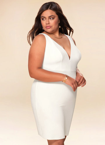 Metropolitan White Open Back Midi Dress