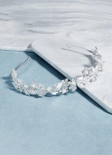 front_Crystal Gilded Floral Vine Headband