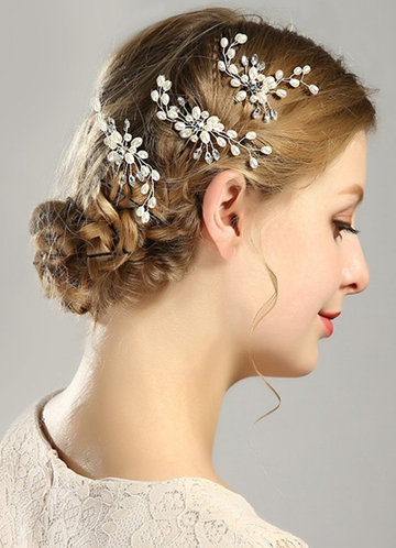 back_Exquisite pearl hairpins