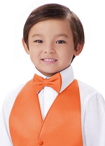 front_Gentlemen's Collection Boy's Matte Satin pre-tied bow tie