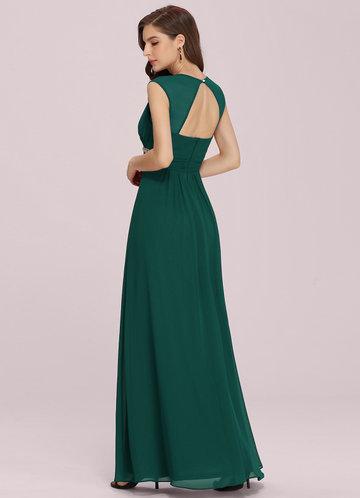 back_EVER-PRETTY Plus Rhinestone Waist Backless Chiffon Dress