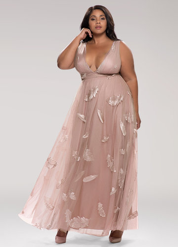 Lost In Paradise Blush Embroidery Maxi Dress