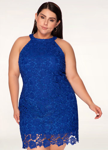 Cosmo Blue Lace Dress