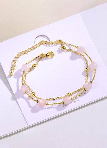 back_Exquisite double-layer Bracelet