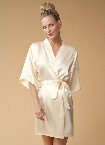 back_Bridesmaid Glitter Print Satin Robe