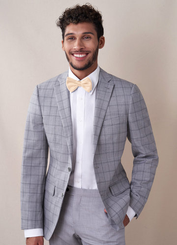 front_Gentlemen's Collection Men's Matte Satin pre-tied bow tie