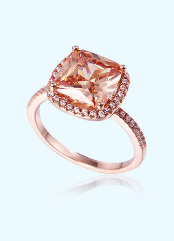 front_Sunset CZ Ring
