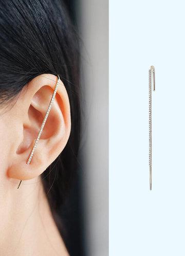 back_Unilateral Elegant Rod Earrings