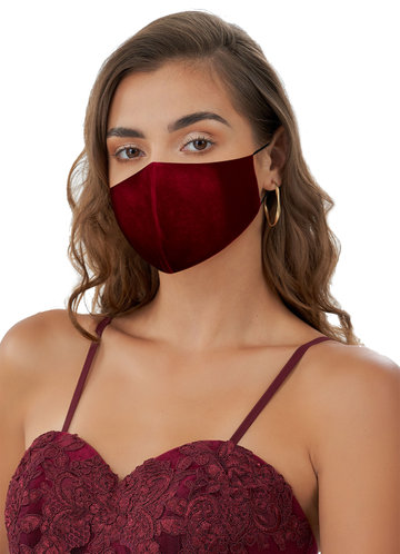 front_Non-Medical Velvet Reusable Face Mask