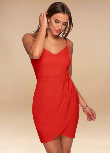 Monday Rust Red Bodycon Dress