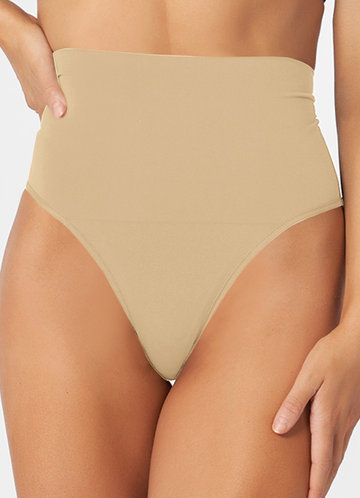 front_High Waisted Compression Panties