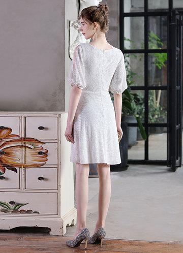 back_Kalinnu V-neck Mini Sequin Dress