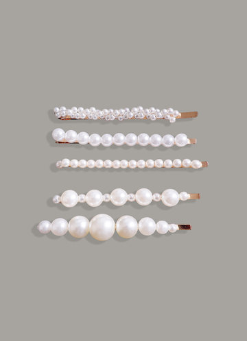 front_Pearl Hairpin Set