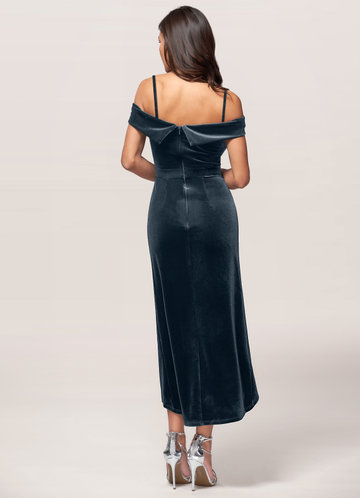 back_Blush Mark Sweet Desire {Color} Velvet Midi Dress
