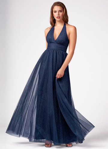 A Moment In Time Dark Navy Maxi Dress